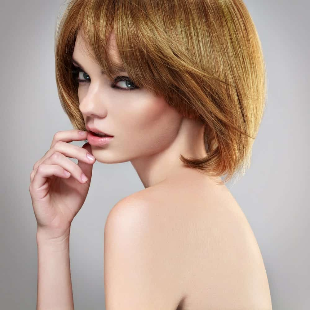 Blown-out bob haircut.