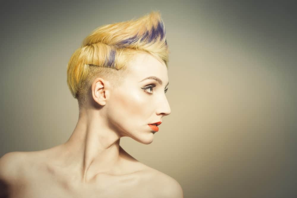 Faux hawk hairstyle for women.