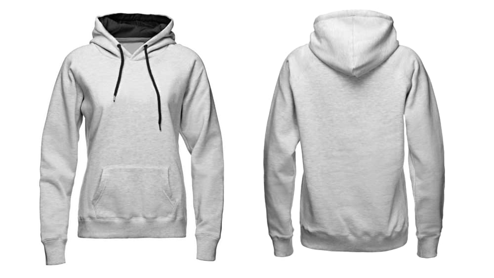 Plain white hoodie for men and women.