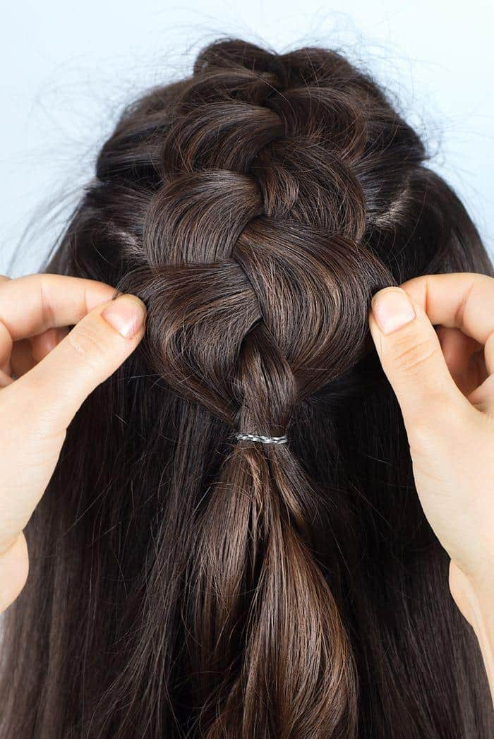Step 3: Pull on each strand of the braid