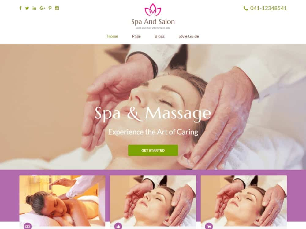 Spa and Salon WP theme for hair salons