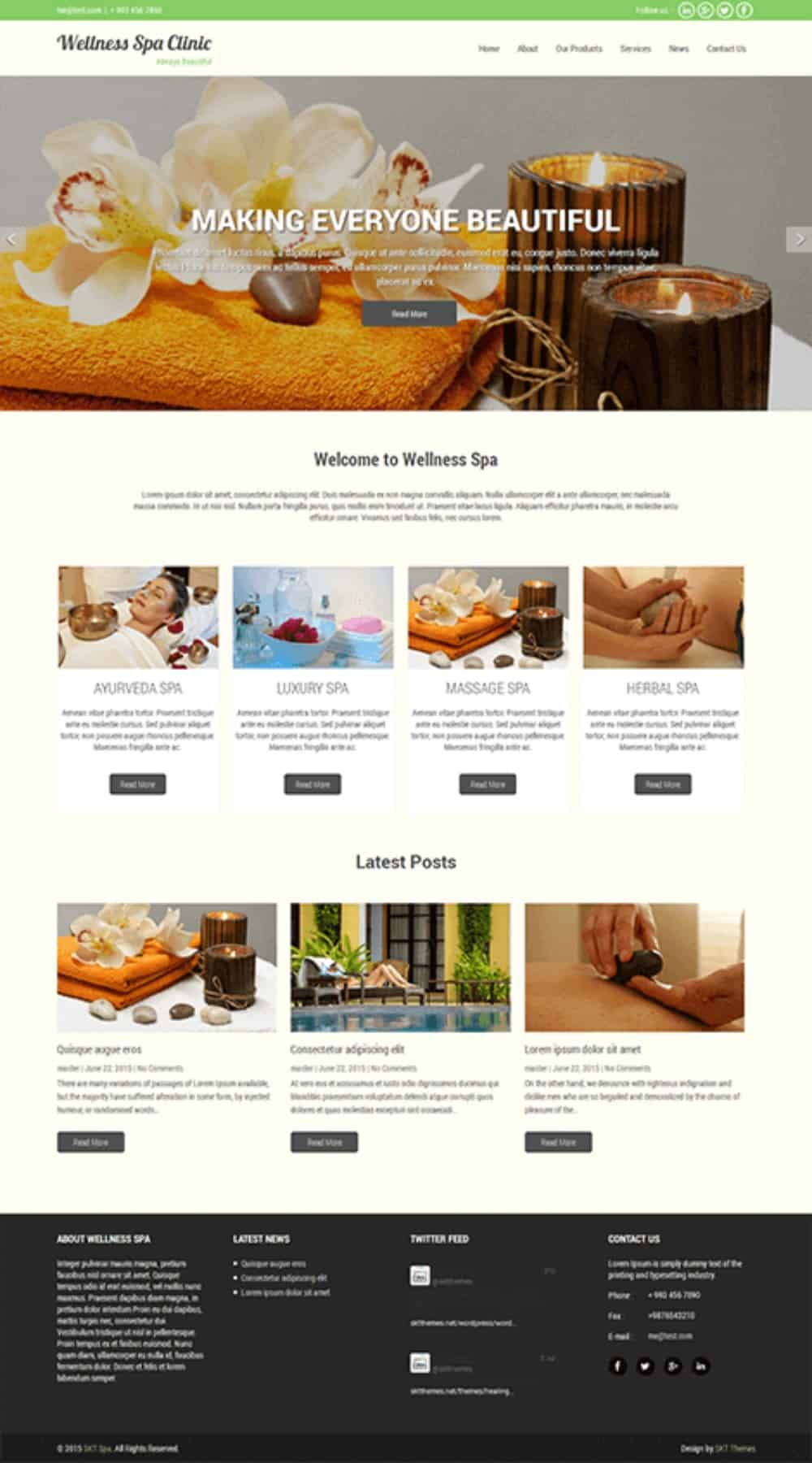 SKT Wellness spa theme