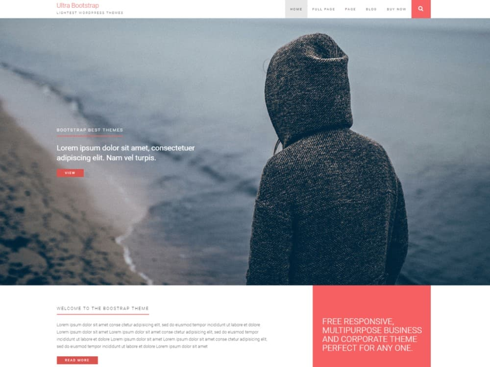 Ultrabootstrap wp theme
