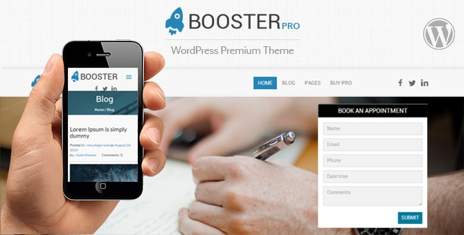 Booster wp theme for hair salons