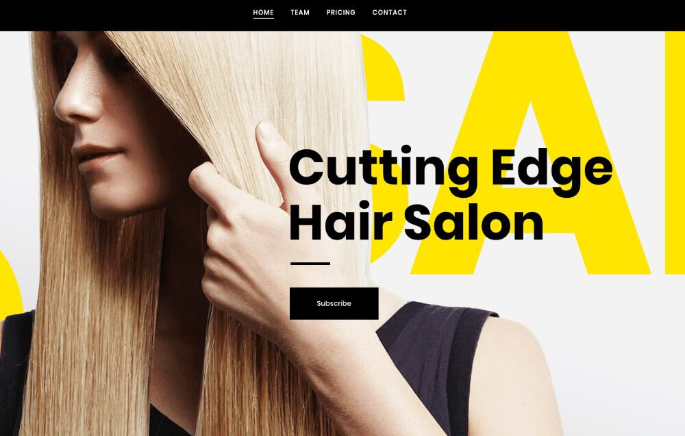Bridge Hair Salon WP theme