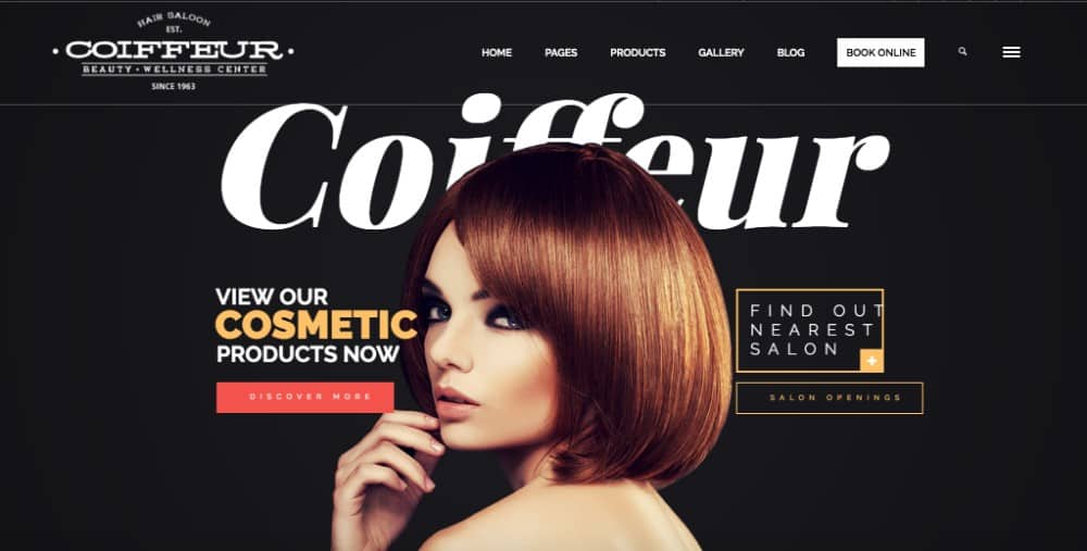 Coiffeur wp theme for hair salons