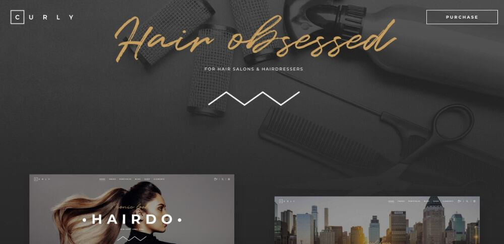Curly WordPress theme for hair salons