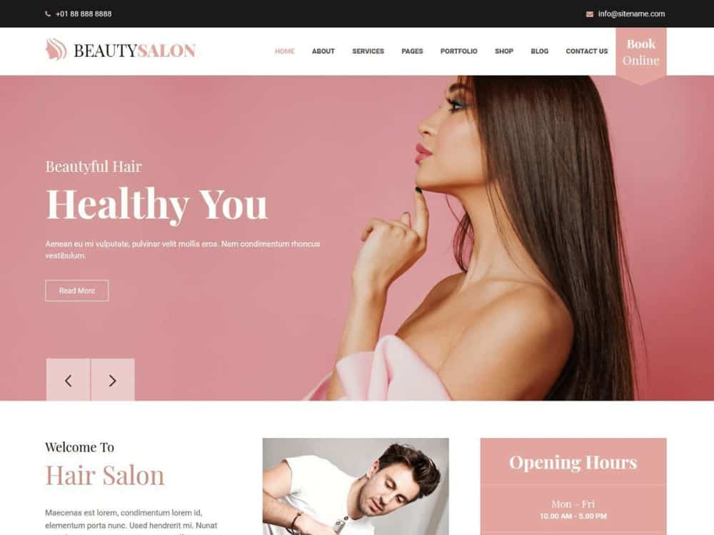 Belleza beauty salon theme