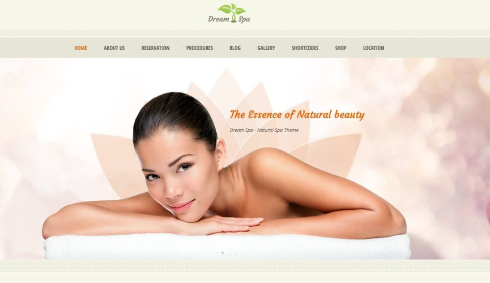 Dream Spa hair salon WP theme