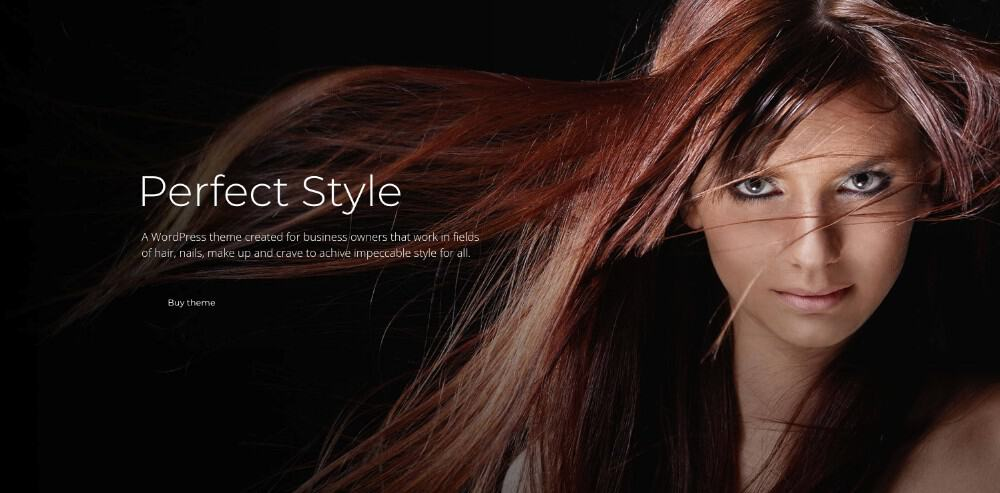 hairdresser wp theme for hair salons