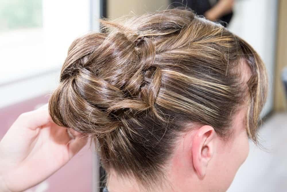 French Twist hair bun