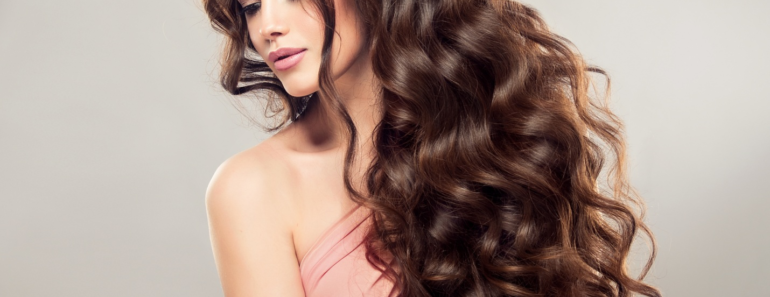woman with thick hair