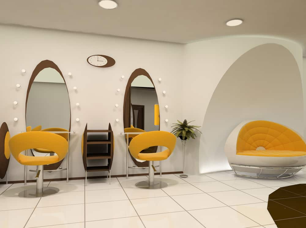 Interior of a luxury hair salon