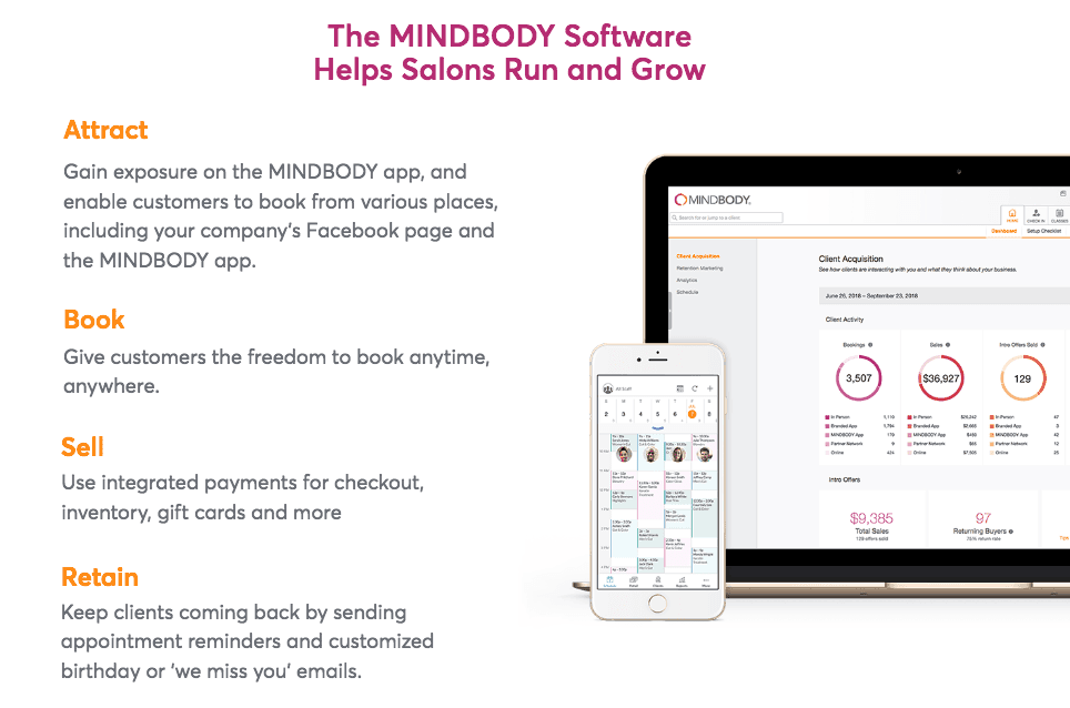 MINDBODY software for hair salons