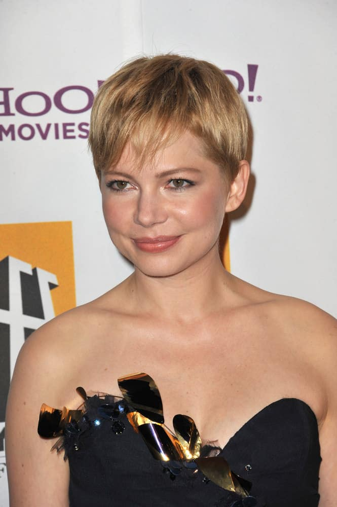 Michelle Williams pixie haircut 2014