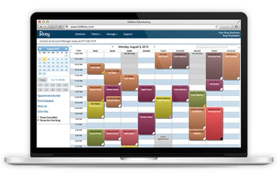 Rosy salon business software