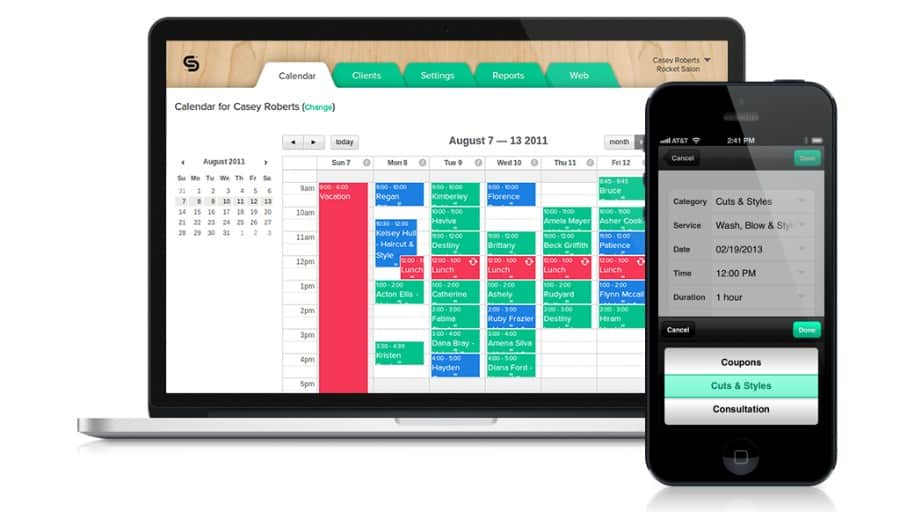 Schedulista hair salon business software