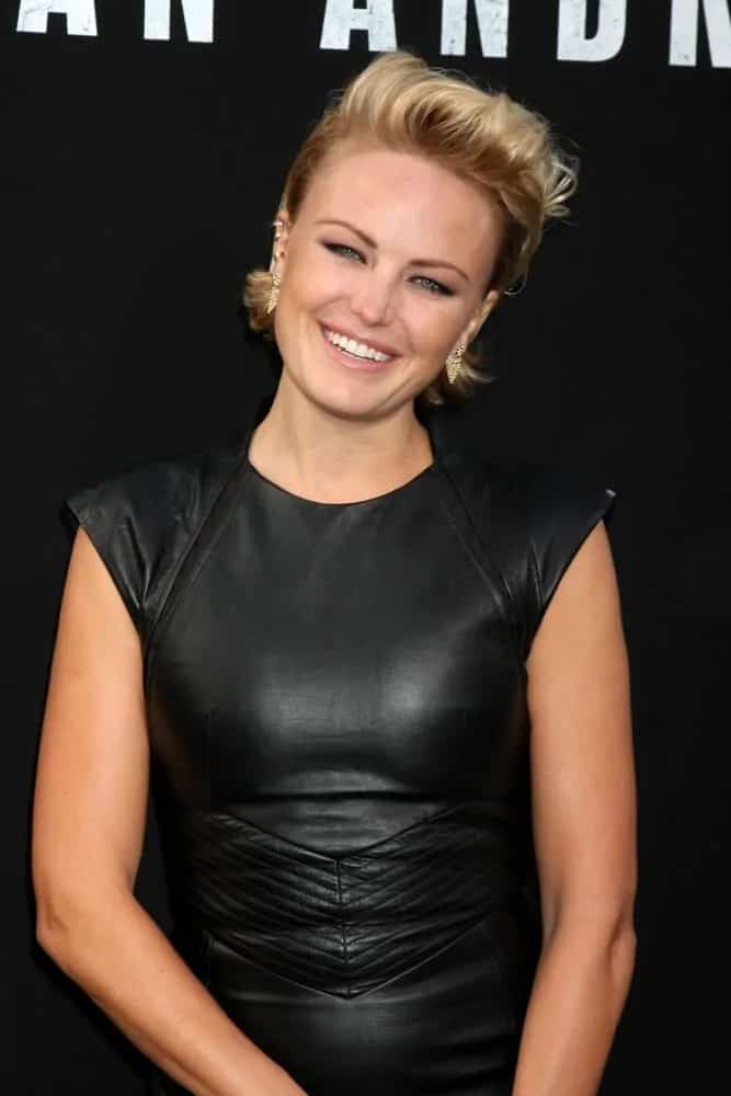 The gorgeous Malin Akerman brought a wow factor with her voluminous slicked back style that is almost like a female pompadour during the San Andreas World Premiere last May 26, 2015.