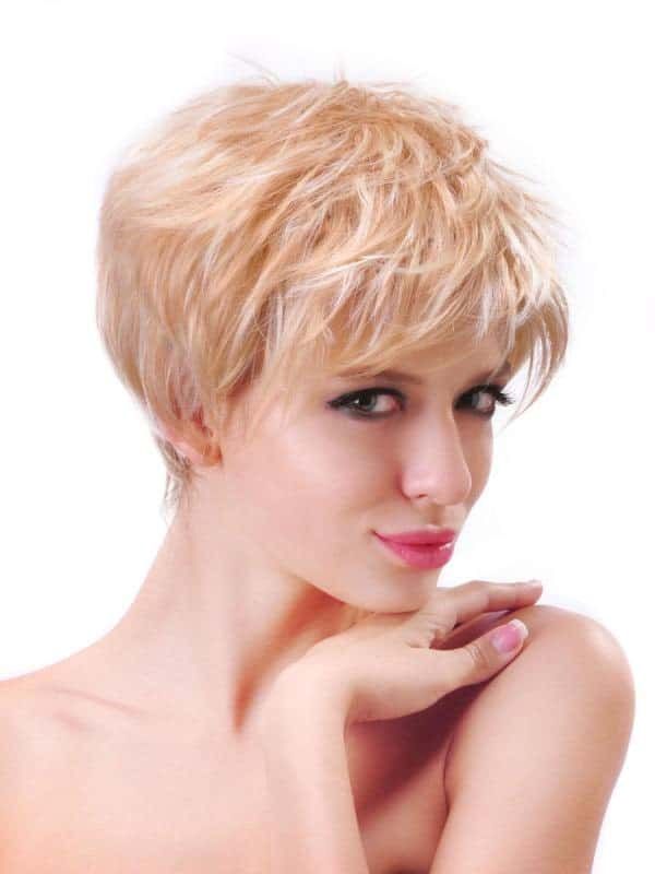 You can achieve a shaggy, multi-layered look with this kind of pixie haircut. Not only does this style provides your hair with volume, it also looks super chic and is one of the most trendiest looks in Hollywood.