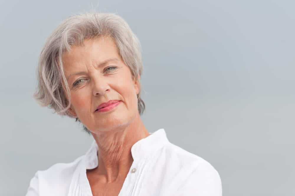 Who says that the disheveled hair look is for those in their 20s only? Women over 60 can totally rock this look with this elegant haircut. With added volume in the back and on the top, this haircut can polish and add poise to your overall appearance. To introduce texture to your hai; try layers!