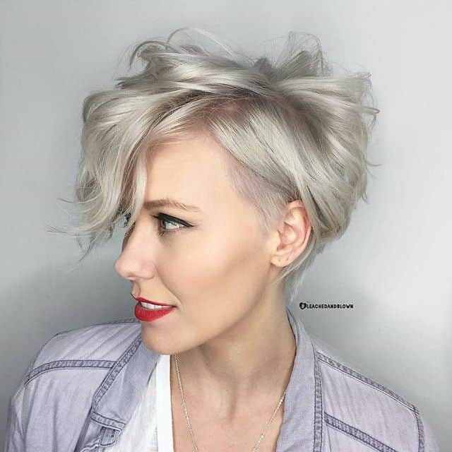 You can achieve one of the most youthful looks with a pixie cut. Make sure your pixie cut is slightly longer and then style it in a mass of curls around your head.