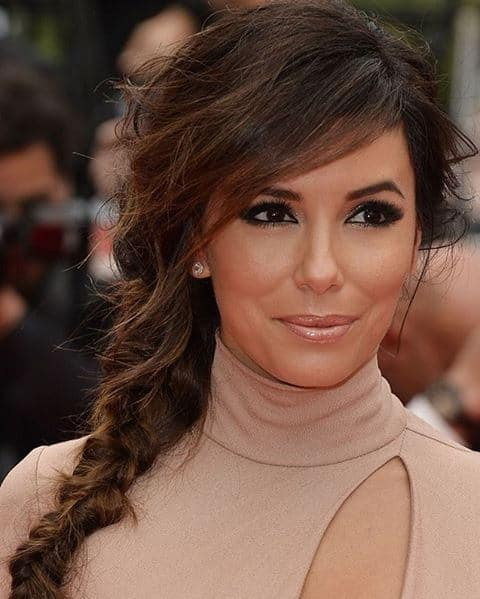 Eva Longoria is a stunning actress and her hair just amplified that effect. The actress' naturally dark brown stresses have been given rich brown and gold highlights, perfect for the red carpet look.