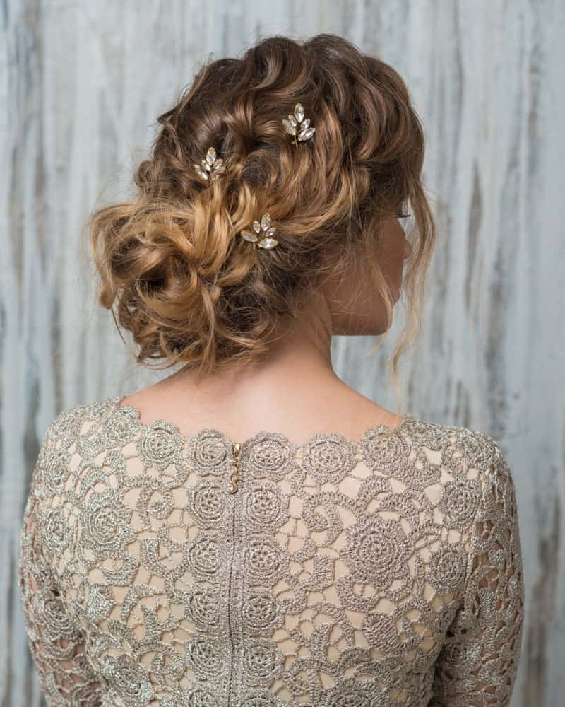 Using small pins in your hair a little apart from each other is a great way to accessorize, if you don't want to use a single hair ornament.