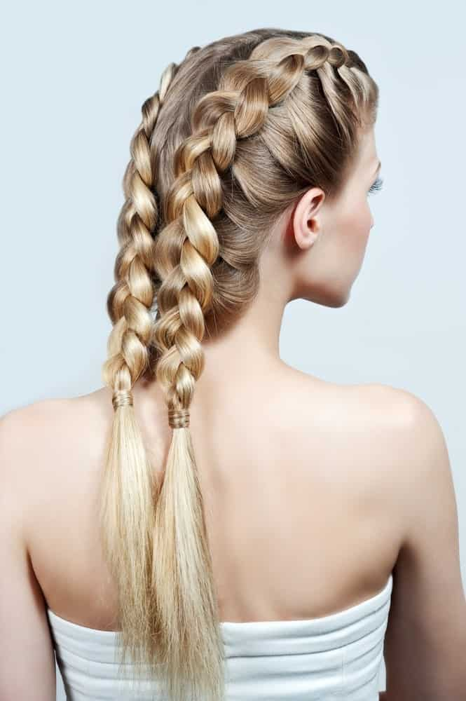 The traditional Dutch braid hairstyles look good on all blondes, not just the Dutch ones. The lovely hairstyle is created by adding in more strands of hair as you go down. This very classy hairstyle is perfect for a day out shopping or attending a wedding.
