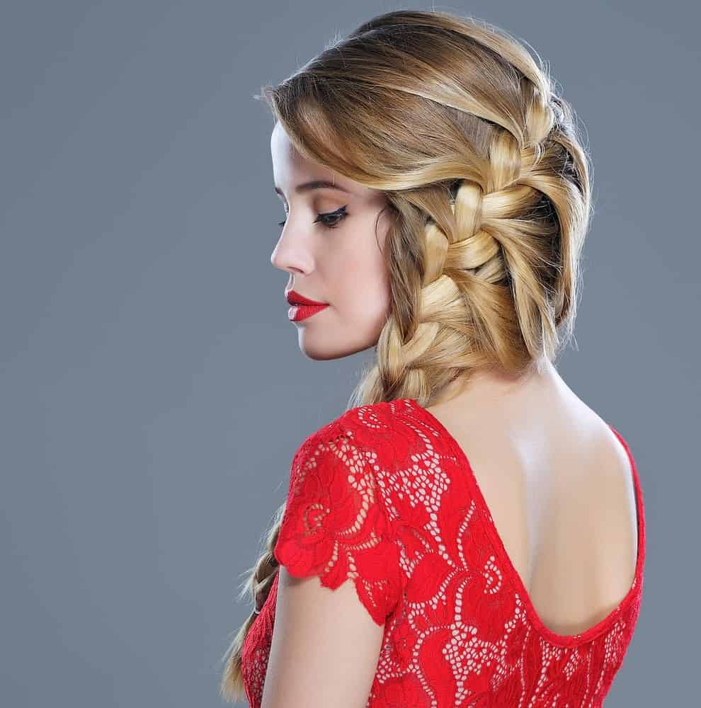 A gently cascading side waterfall braid is a great option for prom if you have medium to long length hair because there will be more hair to work with.