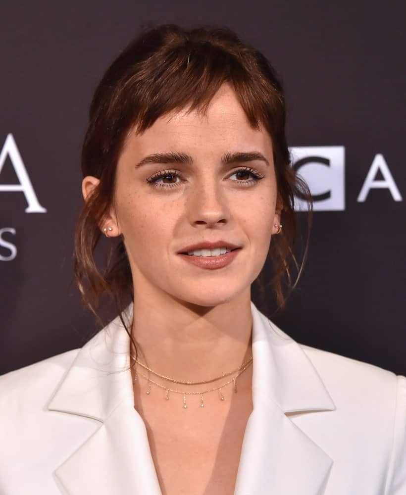 Emma Watson's signature copper hair was a signature part of her character on Harry Potter but in real life, the actress opted for a short, edgy fringe and buzz cut and we think it could look incredibly trendy on anyone!