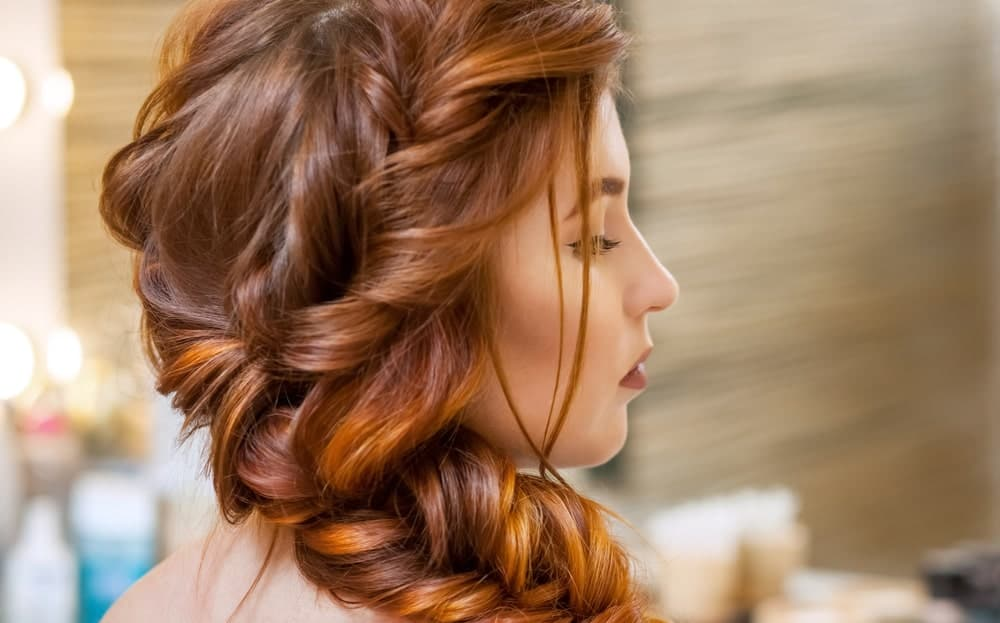 A flowy, thick fishtail braid looks beautiful with any hair color but like the hairdo above, this one is also a great option to show off the different shades in your hair – especially if you have highlights/lowlights.