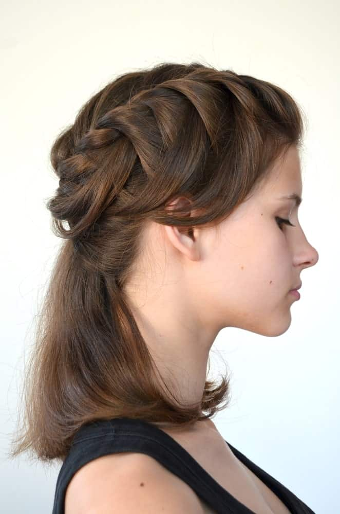 A loosely tied thick waterfall braid makes for a simple, but pretty hairstyle and works really well with very fine textured hair to add volume.