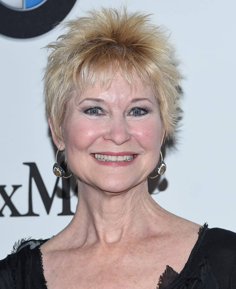 Dee Wallace is not afraid to amp things up by trying this sassy, ruffled pixie and so should be the case with you! It is the perfect haircut to add a little funk to your 60s.