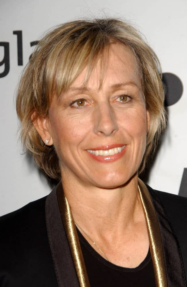Nothing can go wrong when you opt for a bob with side fringe. In fact, it won't be a stretch to say that this haircut is one of the classics and clearly, Martina Navratilova, the star of the world of tennis, knows it!