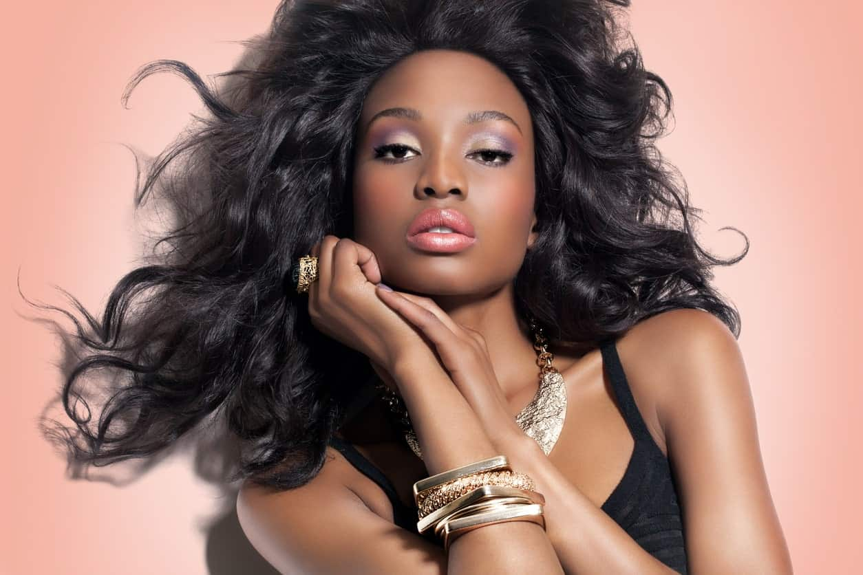 Looking for something that flows and is dramatic? This hairstyle is best with soft curls and full volume on the top.