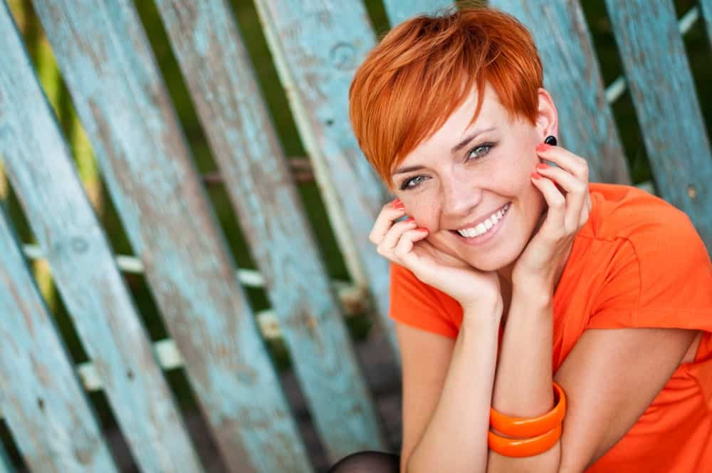 Want to go for something cuter? Try this side-swept pixie cut for a more youthful, playful look!