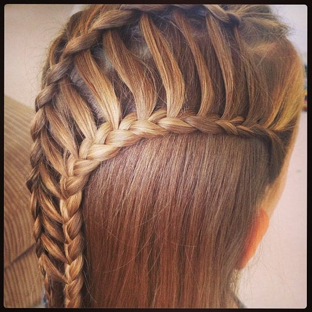Make sure to loosen up the ladder strands to give a more elaborate appearance. Please note that this gorgeous hairstyle looks best on women with long or medium length hair.