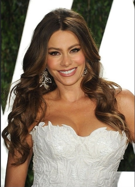 "Sofia Vergara is just as popular because of her ultra-thick, luscious brunette locks as she is for her hilarious acting in ""Modern Family."" The beautiful actress frequently rocks hairstyles that show off the length and thickness of her hair and her long, loose curls here, are one of her best looks."