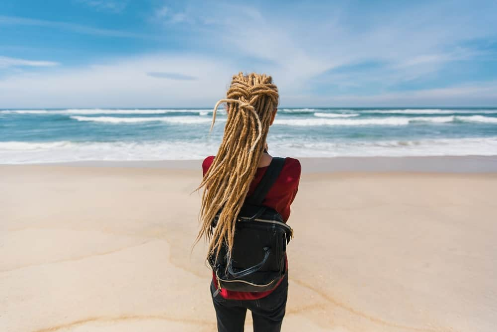 Dreadlocks always look cool and edgy, no matter what color they are in. Although, cultural appropriation is a huge issue on this one, nothing is stopping black women from getting a sandy hair color and styling their hair in dreadlocks, just like Rihanna and Beyonce.