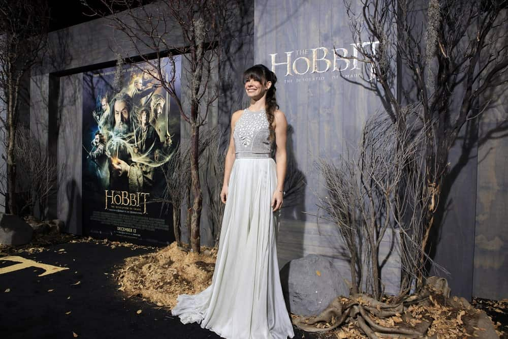 """The Hobbit"" actress channeled her inner elf by sporting a messy fishtail braid. She also gave her hairstyle a modern twist by adding blunt, eye-skimming bangs to the lovely hairstyle."