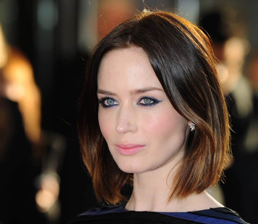 Emily Blunt has certainly always been a fan-favorite, but more so because of her stunning hair styles. This is her super chic and classy long bob with a parting in the middle and the hair has been swept slightly away from the face on both sides. The addition of subtle lowlights to her brunette hair simply elevates the look, making it even prettier.