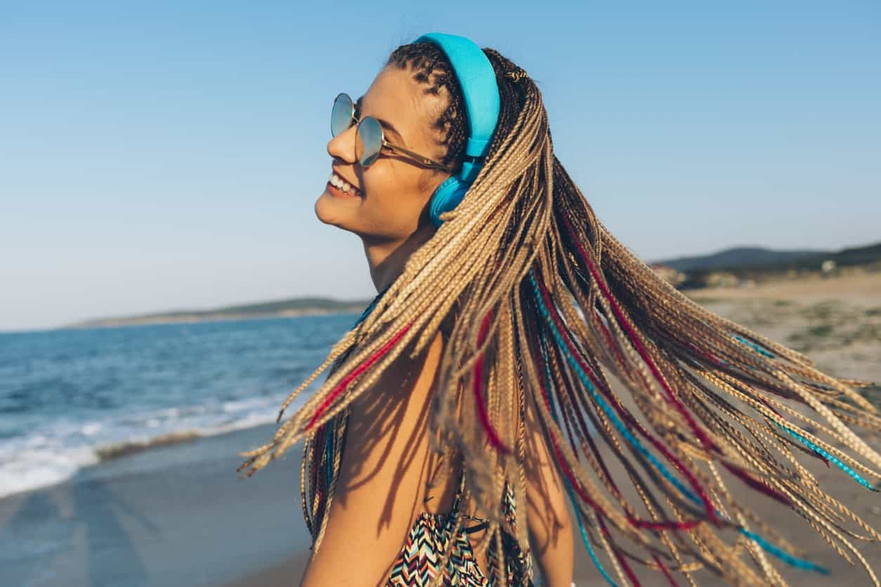 Rarely anyone with straight hair will consider dreadlocks but if you do, make sure to add some contrasting highlights for a vibrant and dramatic touch.