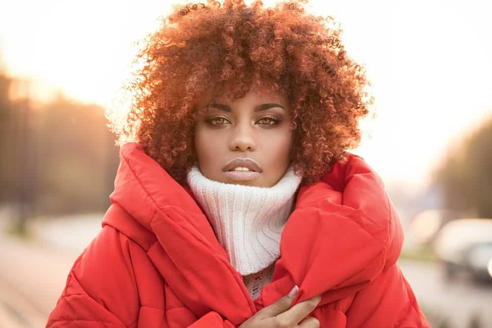 Ginger hair can also look great with tightly coiled curls. They give a really nice autumn feeling and develop great tones in natural sunlight.