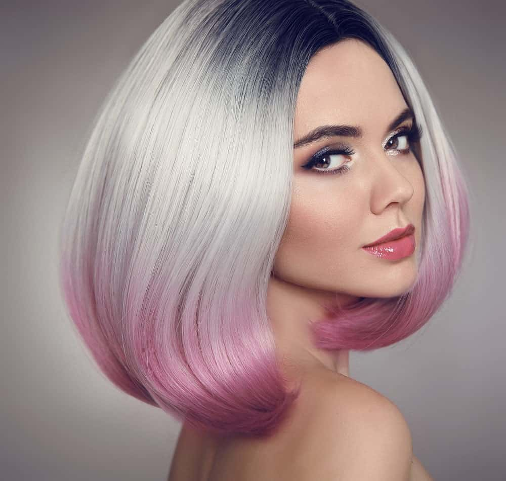 Jump onto the silver hair and colombre bandwagon. Give your hair a multi-toned metallic look by dyeing the top of your hair silver and transitioning it to metallic pink and purple colors. You can also choose other shades depending on your skin tone and color preferences.