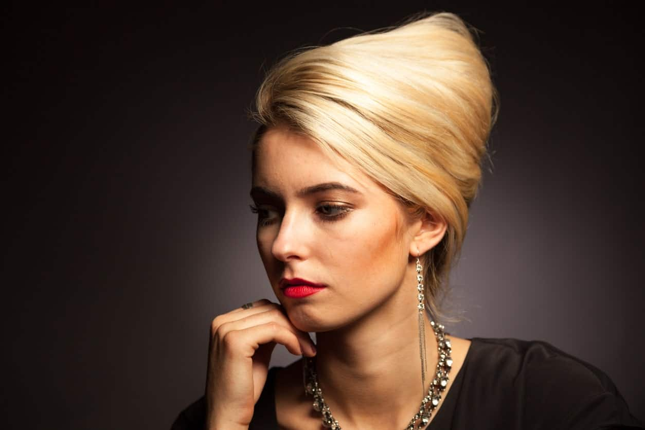 The retro hairstyle has undergone thousands of modern modification, and the beehive is now a favorite amongst A-list celebrities like Marion Cotillard and Adele. The hairstyle is created by piling up the hair on top of the head in a conical shape, giving it a distinct beehive or a bird's nest look.