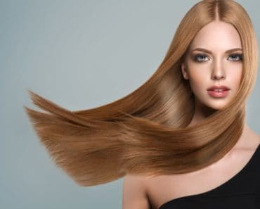 A Model Flaunting Straight Brown Hair