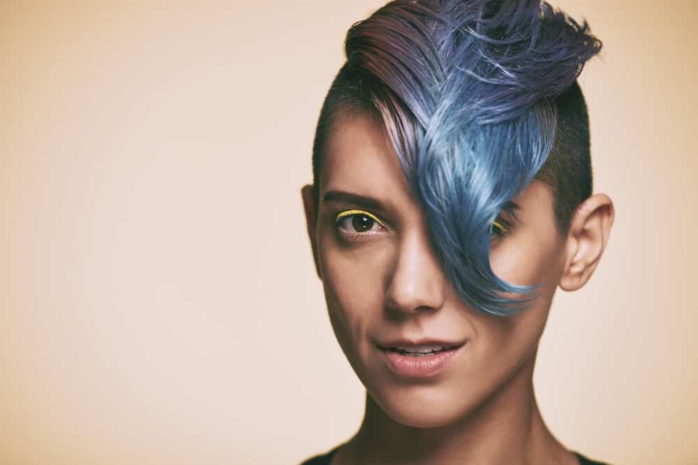 Although not for the faint of heart, this modern Mohawk is the perfect look if you want to make an edgy statement. Give your hair multi-tones of color and rock this very grunge style.