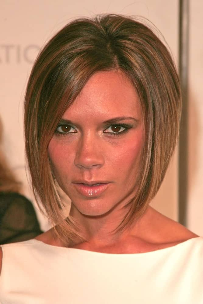 When it comes to short straight hairstyles and cuts for women, this iconic style sported by the equally iconic Victoria Beckham just couldn't be ignored. The businesswoman/ fashion designer set a new trend when she went for this short but prominent angular bob. This style is time-saving because you wouldn't require any further styling and thus, great for working women who are always rushing to get one thing done or another.