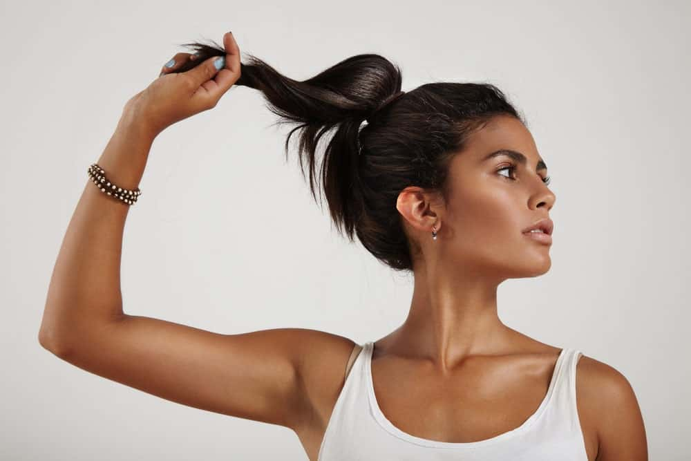 A nicely done ponytail can never go out of fashion. If you have short hair, just tie your hair a bit higher up near your crown so that your hair has a bit more swing to it.