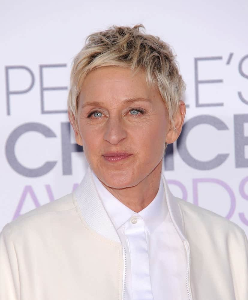 Ellen has supported the spiky blond hair since a really long time and it's become quite a signature look for her. It can become the same for you as well.